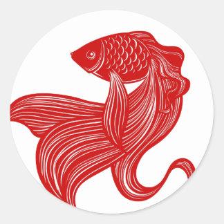 Original Scissors-cut Goldfish Sticker