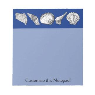 Original Seashell Collection Art Notepad