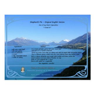 Original Shepherd's Pie Recipe Postcard