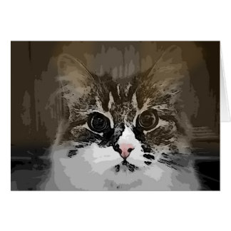 Original Siberian Cat Artwork Note Card