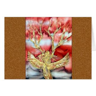Original Silk Painting By Kim: Card