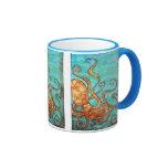 Original Silk Painting Octopus Mug