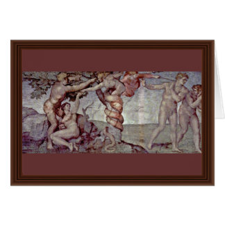Original Sin And Expulsion From Paradise By Michel Greeting Card