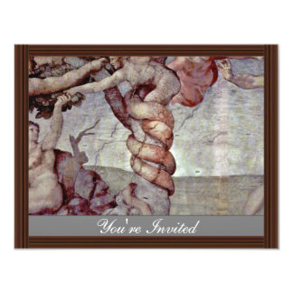 Original Sin And Expulsion From Paradise By Michel 4.25x5.5 Paper Invitation Card