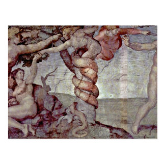 Original Sin And Expulsion From Paradise By Michel Postcard