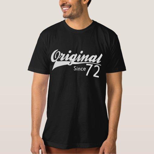 Original Since 72 Baseball Inspired Birthday TEE