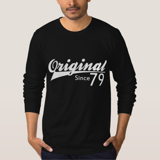 Original Since 79 Baseball Inspired Birthday TEE