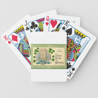 Original St Patrick's day vintage irish draw Bicycle Playing Cards