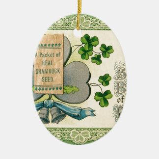 Original St Patrick's day vintage irish draw Ceramic Ornament