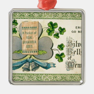 Original St Patrick's day vintage irish draw Metal Ornament