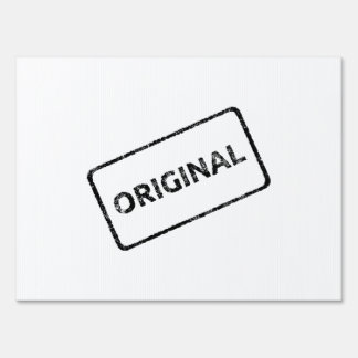Original Stamp Yard Signs