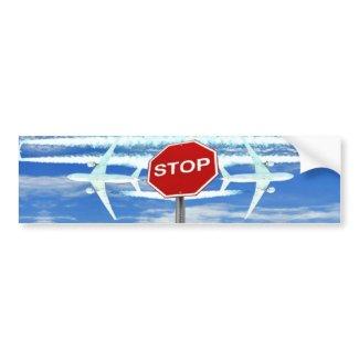 Original Stop Chemtrails Car Bumper Sticker