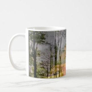 Original Sunforest Art sunflower & forest layered Classic White Coffee Mug