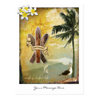 Original Surf Inspired Digital Art Postcard