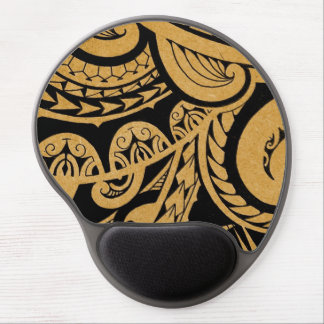 original tattoo drawing on wood island style gel mouse mats