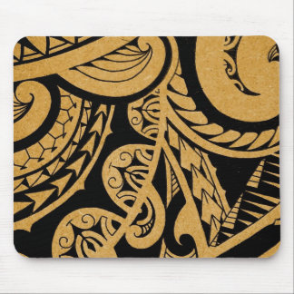 original tattoo drawing on wood island style mouse pad
