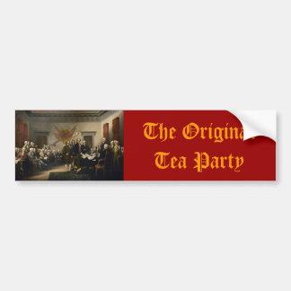 Original Tea Party bumper sticker
