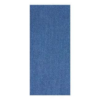 Original textile fabric blue fashion jean denim rack card