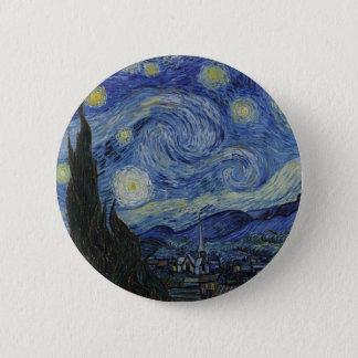 Original the starry night paint pinback button