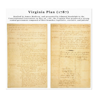 ORIGINAL The Virginia Plan 1787 Canvas Print