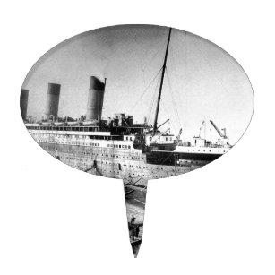 Original Titanic Picture Under Construction Cake Topper