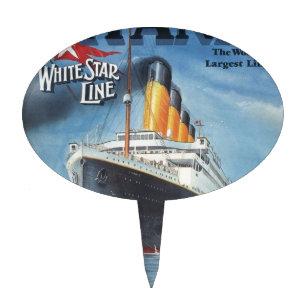 Original Titanic Vintage Poster 1912 Cake Topper