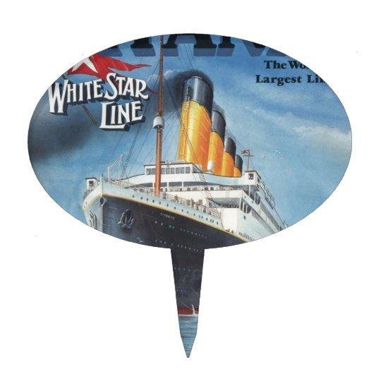 Original titanic vintage poster 1912 cake topper | Zazzle.com