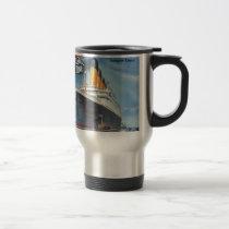Original titanic vintage poster 1912 travel mug