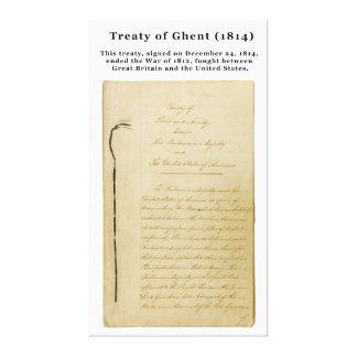 ORIGINAL Treaty of Ghent 8 Stat. 218 1814 Gallery Wrap Canvas