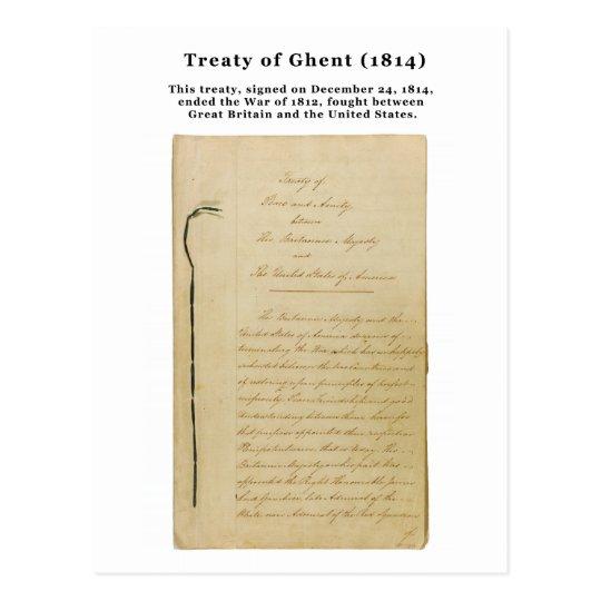 ORIGINAL Treaty of Ghent 8 Stat. 218 1814 Postcard