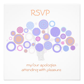 original tree of life circles RSVP party & wedding Personalized Announcements