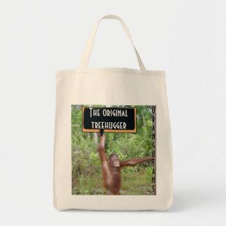 Original TreehuggerOrangutan Tote Bags
