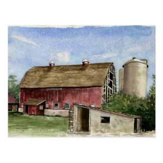 Original Trescher Barn - postcard
