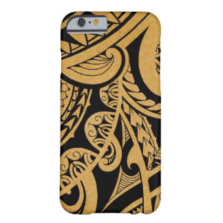 Original tribal tattoo on wood with marker barely there iPhone 6 case