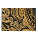 Original tribal tattoo on wood with marker iPad air covers