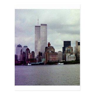 Original Twin Towers Postcard