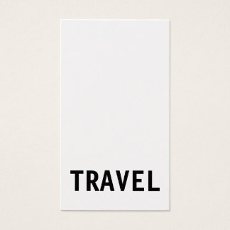Original Unique Travel Agent Business Card