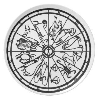 Original Unique Zodiac Wheel Dinner Plate