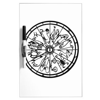 Original Unique Zodiac Wheel Dry-Erase Board