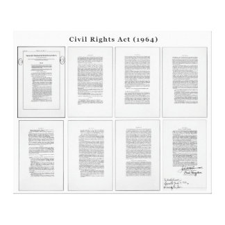 ORIGINAL United States Civil Rights Act of 1964 Canvas Print