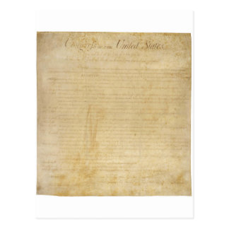 Original United States Constitution Bill of Rights Postcard