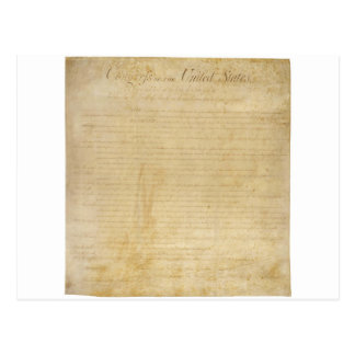 Original United States Constitution Bill of Rights Postcard