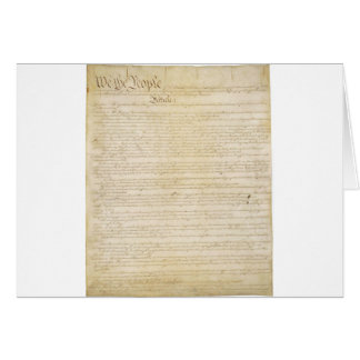 Original United States Constitution Page 1 Card