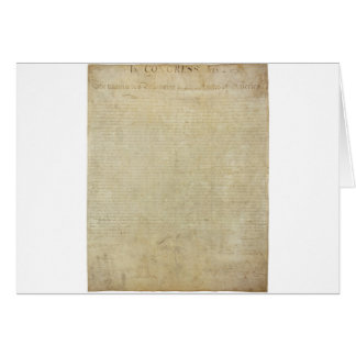 Original United States Declaration of Independence Card
