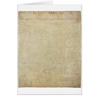 Original United States Declaration of Independence Greeting Card