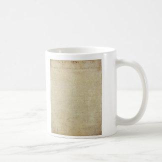 Original United States Declaration of Independence Coffee Mug