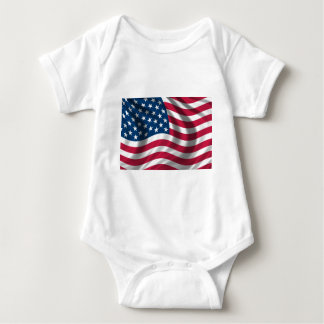 Original USA flag Baby Bodysuit