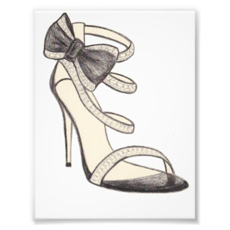 Original Valentino Shoe Fashion Illustration Photo Print