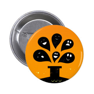 Original vintage badge with Ghosts Button