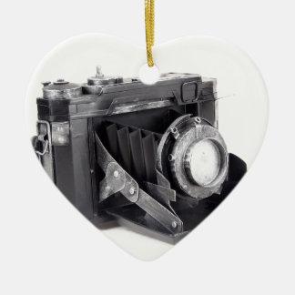 Original vintage camera ceramic ornament